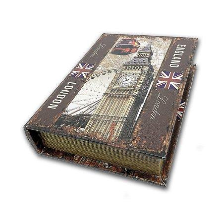 Caixinha Livro Decorativa England London - 18 x 13 cm