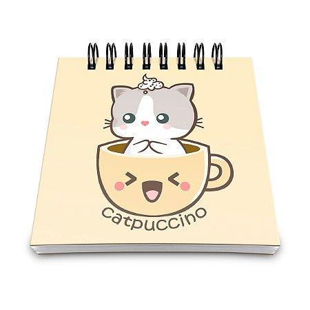 Bloco de Anotações Catpuccino