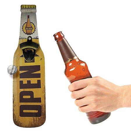Abridor de Garrafa de parede Open Free Beer