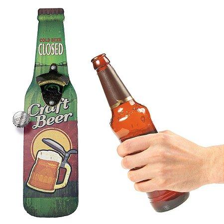 Abridor de Garrafa de parede Craft Beer