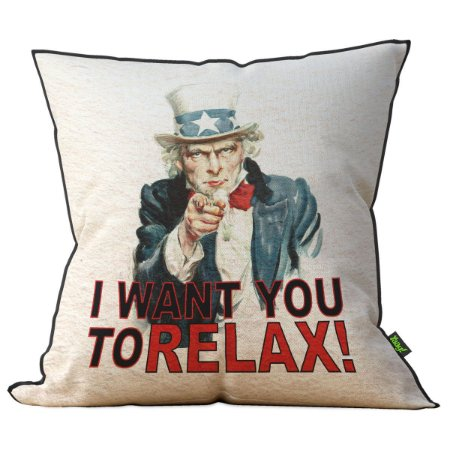 Almofada I Want You to Relax