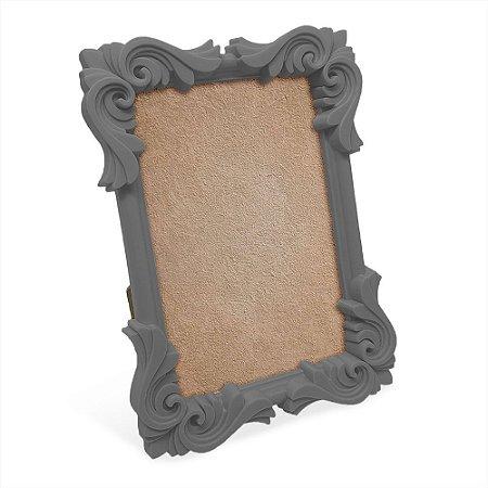Porta Retrato moldura Flor - cinza