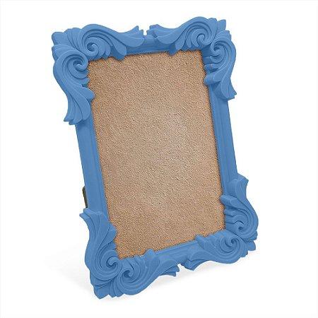 Porta Retrato moldura Flor - azul