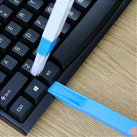 Escova Pincel com Pá para teclado PC quinas e cantos