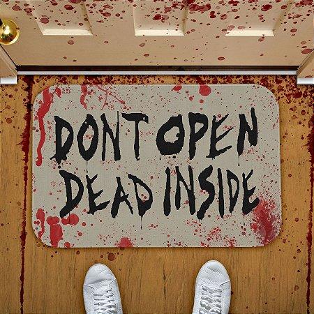 Tapete Decorativo Dont Open Dead Inside twd