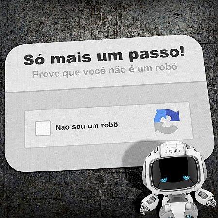 Tapete Decorativo Captcha Eu não sou um Robô