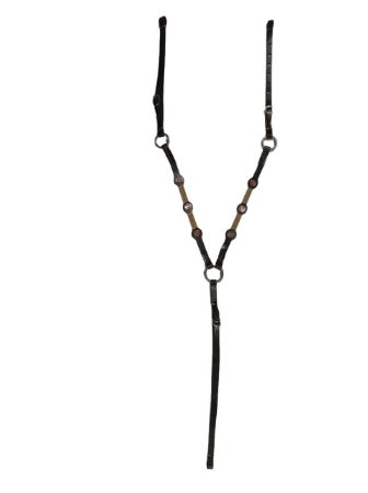 Peitoral de couro marrom com apliques mangalarga marchador
