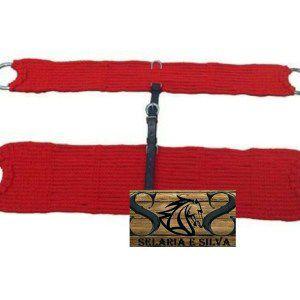 Barrigueira E Cilha De Lã Vermelha