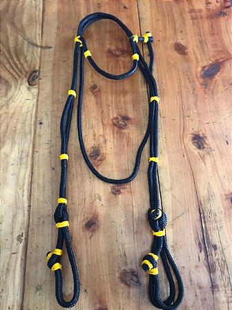 Cabeçada Cordinha- Preto com Amarelo