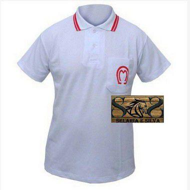 Camisa Polo Mangalarga Feminina- Branca