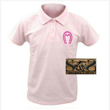 Camisa Polo Mangalarga Feminina- Rosa