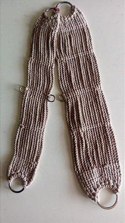 Barrigueira em lã bege