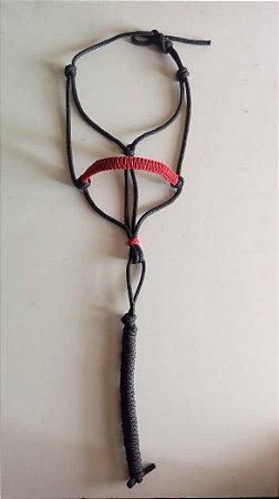 Cabresto em corda vermelho