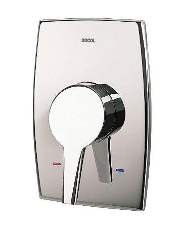Acabamento Monocomando para Chuveiro Alta Pressão - Baixa Pressão - Alta Vazão 3/4'' Nexus 502906 Docol