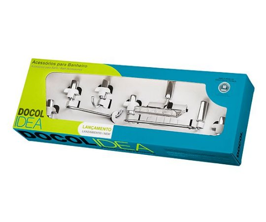 Kit de Acessórios para Banheiro Idea 5 peças 586306 Docol
