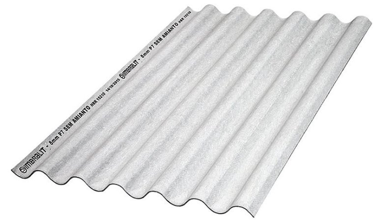 Telha Ondulada de Fibrocimento 1,22x110 5 mm Imbralit