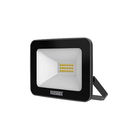 Refletor Preto  LED 10W Slim 6500K Taschibra
