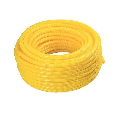 Eletroduto Corrugado Flex 25mm x 50m Amarelo