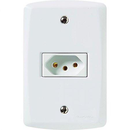 Lux 2 Elétrica Tomada Retangular Branca 57145/0 Tramontina