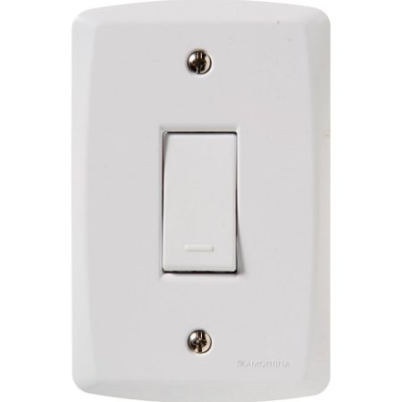 Conjunto 4X2 - 1 interruptor simples 10A 250V Tramontina