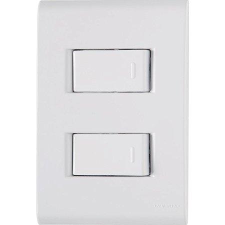 Conjunto 4X2 - 2 interruptores simples 10A 250V Tramontina