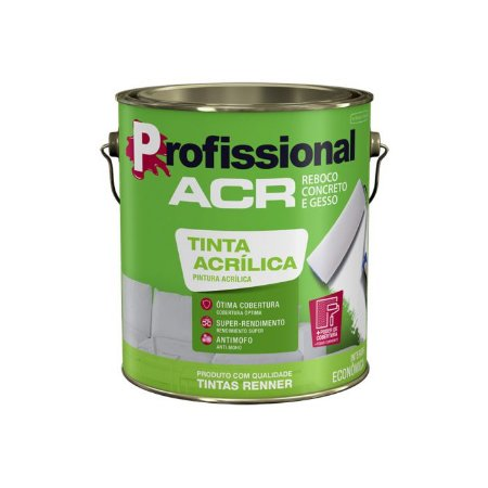 Tinta Profissional Acrílico Fosco Branco 3,6L Renner