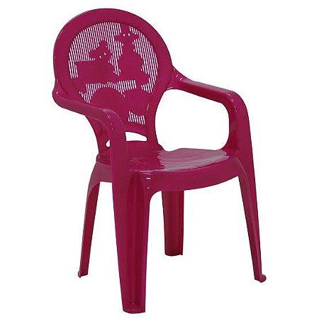 Cadeira Tramontina Infantil Catty em Polipropileno Rosa Tramontina