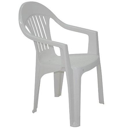 Cadeira Imbé Branca com Braços em Polipropileno Tramontina