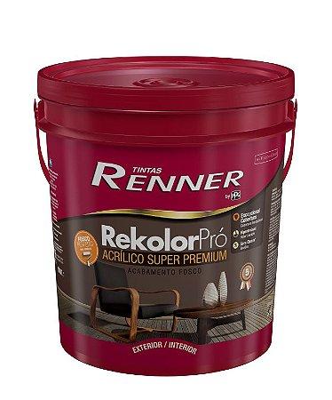 Tinta Rekolor Profissional Fosco 18L Branco Renner
