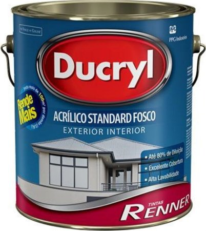 Tinta Ducryl Fosco Branco 3,6L Renner