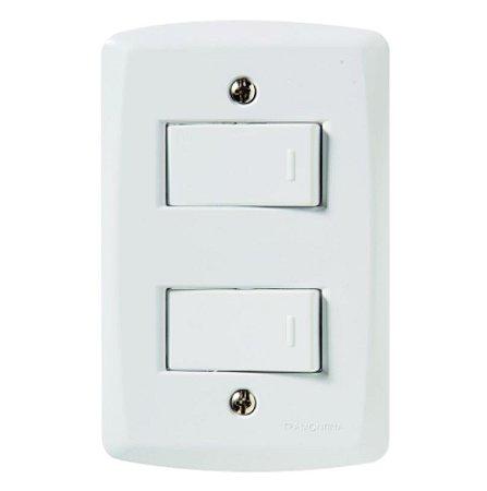 Conjunto 4X2 2 interruptores simples 10A 250V Tramontina