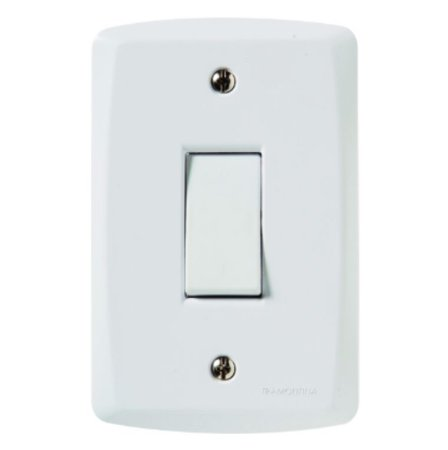 Conjunto 4X2 1 interruptor bipolar simples 10A 250V Tramontina