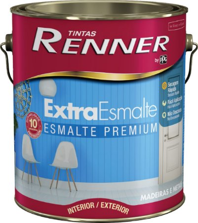 Tinta Esmalte Extra Premium 3,6 Litros Branco Brilhante Renner