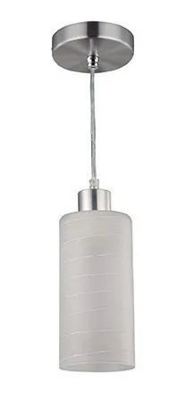 Pendente Vidro Aluminio Jasmim 1XE27 Branco Blumenau