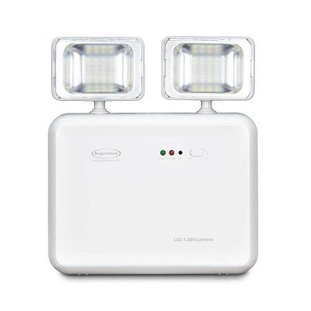 Iluminação de Emergência Led 1200 Lúmens Segurimax