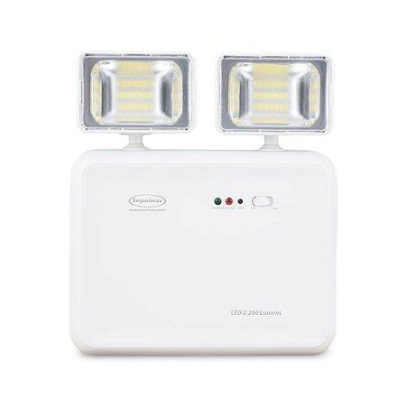 Iluminação de Emergência Led 2200 Lúmens Segurimax