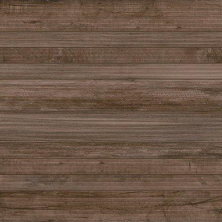 Caixa Com 4 Peças Do Porcelanato Retificado 73X73 Jatoba Deck [2,13m] Delta