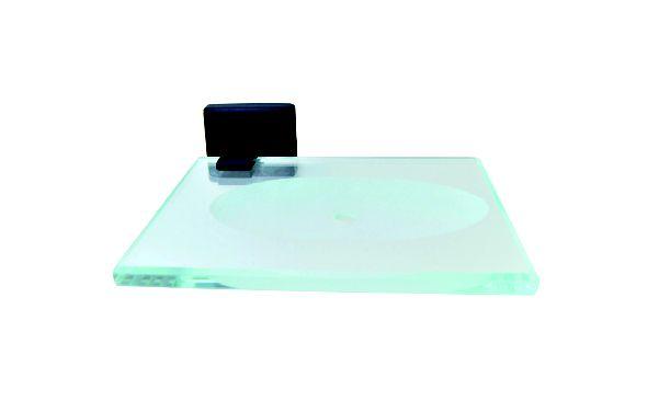 Saboneteira Preto Fosco Reflexos