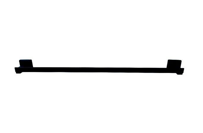 Toalheiro Barra 50cm Preto Fosco Reflexos