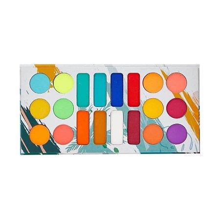 Paleta de Sombras Matte Tropical com 20 cores - Ludurana