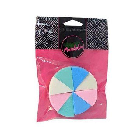 Kit de Esponjas Queijinho com 8 Esponjinhas Coloridas - Mandala