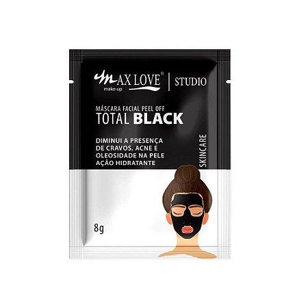 Máscara Facial Peel Off Total Black Sachê 8g - Max Love