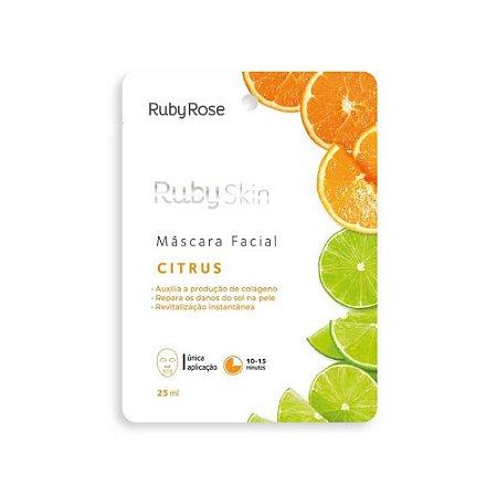 Máscara Facial de Tecido Ruby Skin Citrus - Ruby Rose