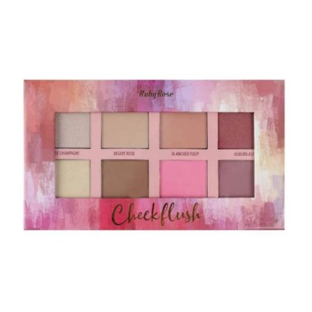 Paleta Cheek Flush Iluminador Blush Contorno - Ruby Rose