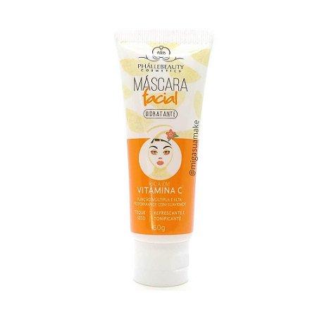 Máscara Facial Vitamina C Hidratante - Phállebeauty