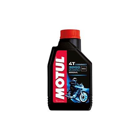 Óleo de motor Motul 3000 4T 1L 20W50 Mineral