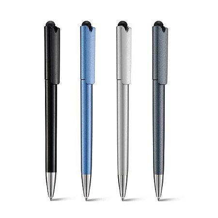 Esferográfica Acabamento metalizado - Ponteira de metal e touch - Tinta Dokumental® 2,5km de escrita