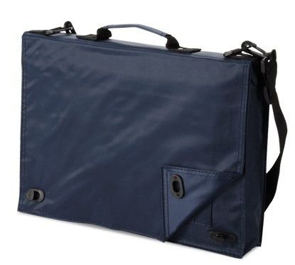 Pasta multifunções 70D Com diversos bolsos para documentos no interior e alça de ombro
