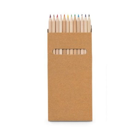 Caixa de cartão com 12 lápis de cor Cartão