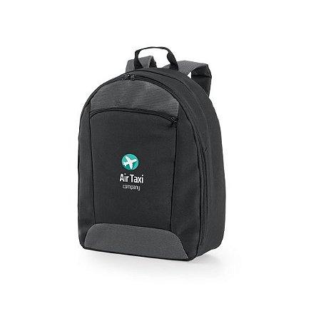 Mochila para Notebook 600D2Tone e 300D - Compartimento com Divisória Almofadada para Notebook até 14'' Interior forrado e almofadado, com diversos bolsos Bolso frontal Parte posterior e alças almofadadas